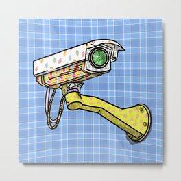 Security Camera Metal Print