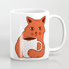 Peach Coffee Kitten Coffee Mug