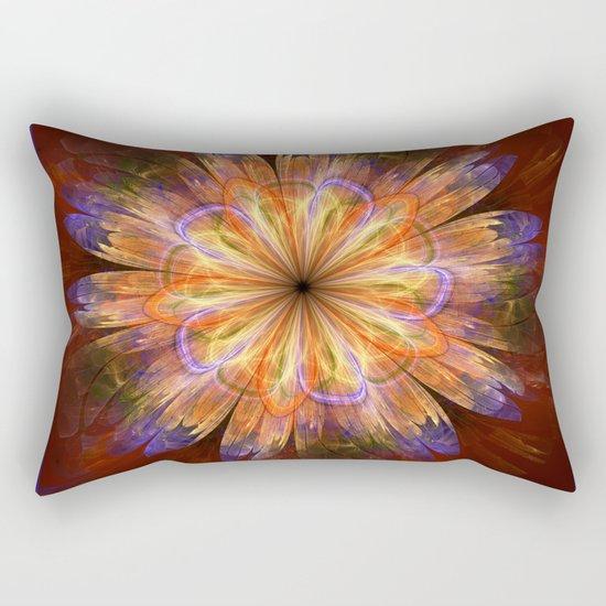 Artistic fantasy flower in summer colors Rectangular Pillow