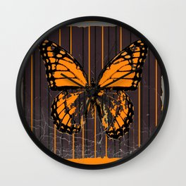 SHABBY CHIC ANTIQUE BUTTERFLY ART Wall Clock