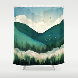 Emerald Hills Shower Curtain