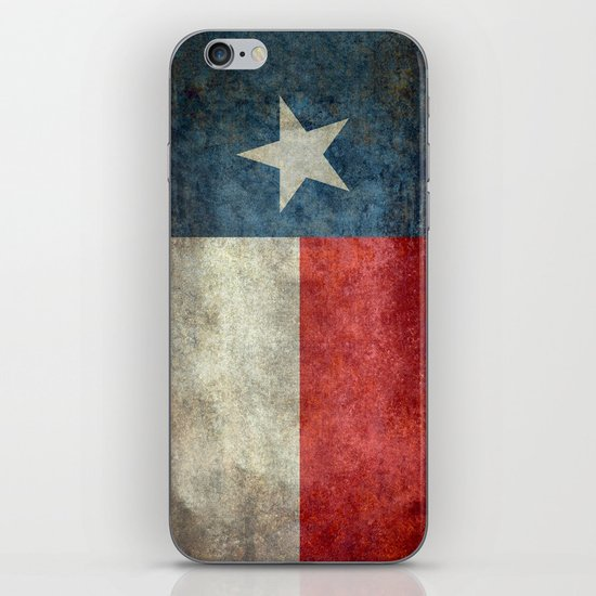 Texas state flag, Vertical retro vintage iPhone & iPod Skin