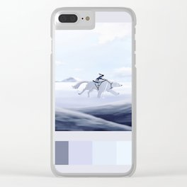 korra and naga palette Clear iPhone Case