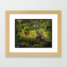 A Secret Pond Framed Art Print