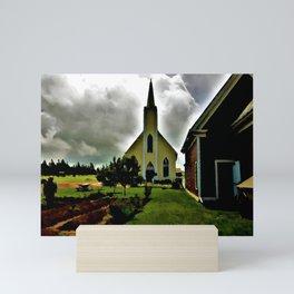 The Church At  Avonlea Water Paint Mini Art Print