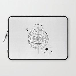 Alchemy symbol with eye, moon, sun Laptop Sleeve