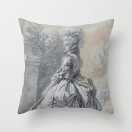 Elisabeth Louise Vigée Le Brun - Marie Antoinette in a Park Throw Pillow