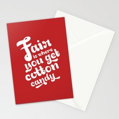 Fair • Red  Stationery Cards