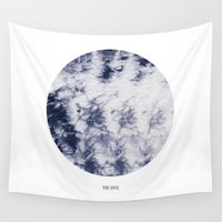 tie dye Wall Tapestries featuring Tie Dye by The Mia Harper Series