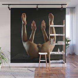 5184s-NLJ Beautiful Woman Exposed Hands Feet Up Rich Dark Skin Wall Mural