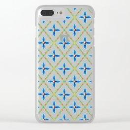 Elizabethan Folkloric Lattice Clear iPhone Case