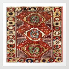 Bergama West Anatolian Village Rug Print Art Print
