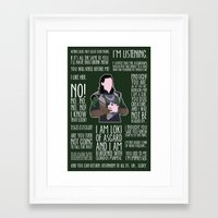 loki Framed Art Prints featuring Loki by MacGuffin Designs
