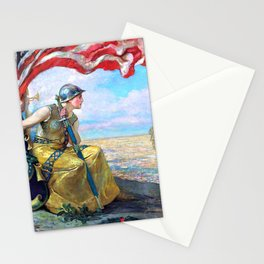 Trumpets of Missouri - Edwin Howland Blashfield Stationery Cards