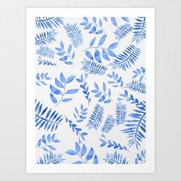 Blue Botanicals Art Print