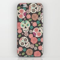 sugar skulls iPhone & iPod Skins featuring Sugar Skulls by Bohemian Gypsy Jane