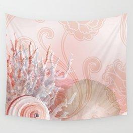SEASHELL DREAMS   pink Wall Tapestry