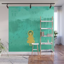 Rain friends Wall Mural