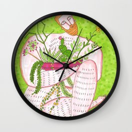 Man with a plant Vol. 2 Wall Clock