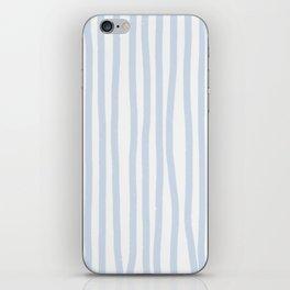 Light Blue Stripes iPhone Skin