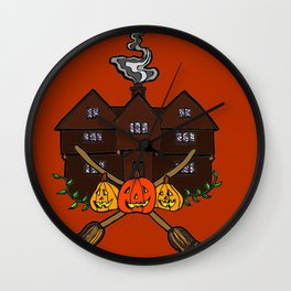Salem Witch House- Red Wall Clock