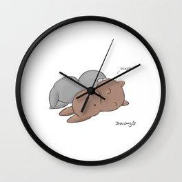 Snuggle? Wall Clock
