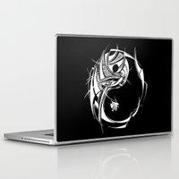 yin yang Laptop & iPad Skins featuring Yin Yang by David T Eagles