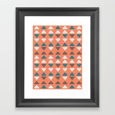 Triangles + Dots Framed Art Print