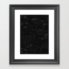 land of 15 towns and a cemetary · negative ⎌ Framed Art Print
