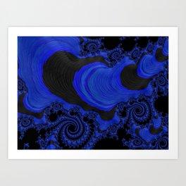 Beautiful Blue Lagoon Fractal Art Print