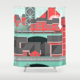 Townscape Shower Curtain