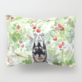 Cute Raccoons in the Orchard Pillow Sham