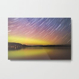 Aurora at Flat Head Lake Metal Print