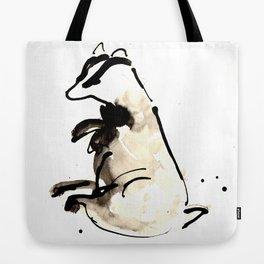 Sitting Badger Tote Bag