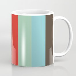 Pattern that spells ABSTRACT Aquamarine Black Sepia Taupe Red Aquamarine Cyan Taupe Coffee Mug