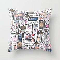 Cutey Beauty Kawaii Throw Pillow