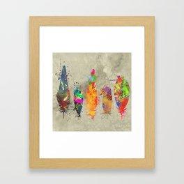 Feathers - splat Framed Art Print