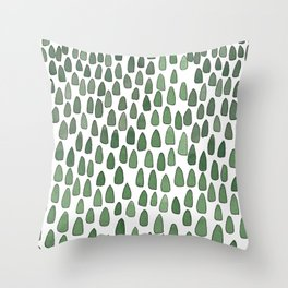 Tiny Forest Throw Pillow