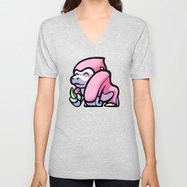 Pink Gorilla X Enfu Gorilla Unisex V-Neck