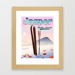 Jasper Alberta Canada travel poster Framed Art Print