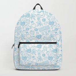 Simple Blue Hanukkah Seamless Pattern Backpack
