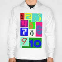 numbers Hoodies featuring FUNNY NUMBERS by Vivian Fortunato