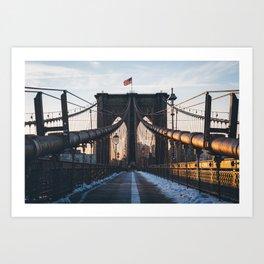 Brookyn Bridge Sunrise Art Print