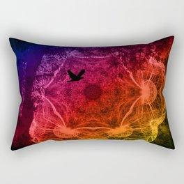 Flying through an alien landscape Rectangular Pillow