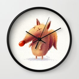 Monday fox Wall Clock