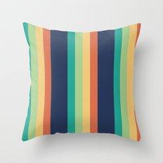 Happy Stripes Throw Pillow