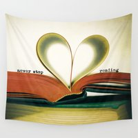 read Wall Tapestries featuring Read by Lawson Images