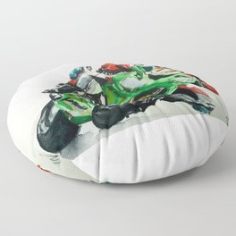 Moto racer Floor Pillow