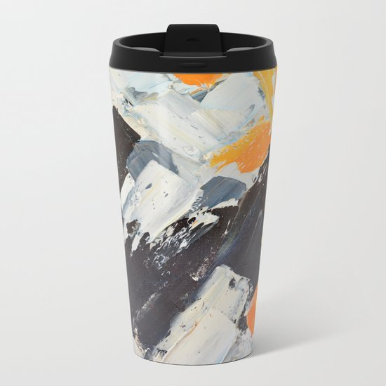 December Lights Metal Travel Mug