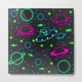 space ship Metal Print